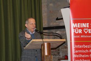 David Burkhart am Podium, Meine Stimme Für Vernunft, SPD-UB-GAP