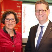 Neujahrsempfang des SPD-Kreisverbands GAP mit Sigrid Meierhofer und Thorsten Schäfer Gümbel